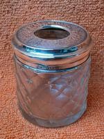 Antique Sterling Silver Hallmarked Cotton Wool Pot  1913 Joseph Jennens & Co (7 of 8)