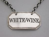George III Silver Wine Label 'White-Wine' by Phipps & Robinson, London, 1806 (3 of 6)