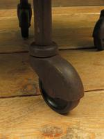 Small Industrial Antique Vono Cart Trolley Coffee Table with Bakelite Castors (8 of 17)