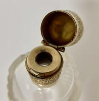 Antique Dutch Cut Glass Scent Bottle with 14k Gold Top (8 of 10)