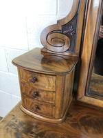 Antique 19th Century Concave Mahogany Dressing Table (18 of 21)