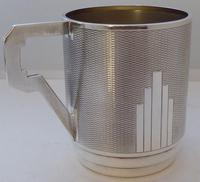 Art Deco 1932 Hallmarked Solid Silver Christening Mug Tankard Mint Condition (8 of 9)