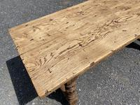 French Rustic Bleached Oak Farmhouse Dining Table (3 of 15)