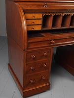 Victorian Oak Cylinder Top Desk or Bureau (10 of 16)