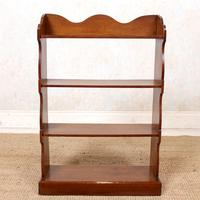 Oak Open Bookcase Waterfall Solid Carved (3 of 8)