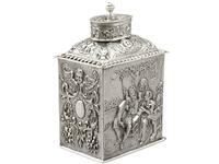 Sterling Silver Tea Caddy - George V 1925 (13 of 15)