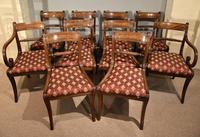 Ten Regency Rope Back Dining Chairs