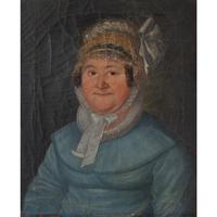 19th Century German School, Portrait of a Lady with a Bonnet (2 of 9)