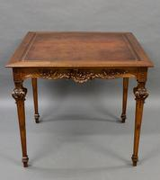 An American, Carved Walnut Card Table (2 of 6)
