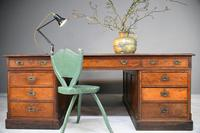 Large Victorian Mahogany Partners Desk (2 of 13)