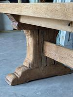 Superb Rustic Large Bleached Oak Farmhouse Table with Extensions (11 of 36)