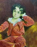 After: Sir Thomas Lawrence 'The Red Boy' Large Portrait Oil Painting (5 of 10)