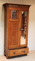 Small Proportioned Oak Arts & Crafts Wardrobe (4 of 9)