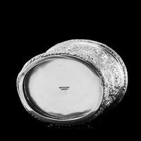 Rare Antique Solid Silver Cellini Tea Caddy Box - Mappin & Webb 1902 (9 of 28)