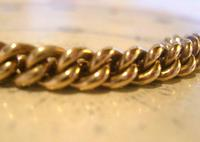 Antique Pocket Watch Chain 1890s Victorian Large 10ct Rose Gold Filled Albert With T Bar (6 of 12)