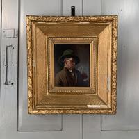 Antique Dutch Oil Painting Portrait of a man drinking ale (4 of 10)