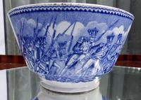 An Extremely Rare Pottery Napoleon Propaganda B&w Commemorative Bowl C.19thc (5 of 12)