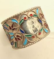 Pretty Imperial Russian Silver & Cloisonné Napkin Ring Moscow c.1890 (3 of 6)
