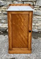 Antique Victorian Satinwood Bedside Pot Cupboard