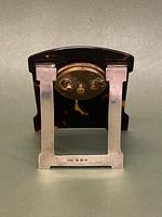 """Charming Art Deco Period Tortoiseshell & Silver-mounted """"Easel"""" or Bedroom Timepiece (3 of 6)"""