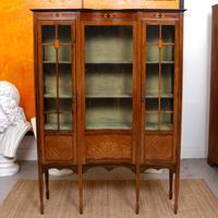 Edwardian Glazed Bookcase Inlaid Mahogany (2 of 9)