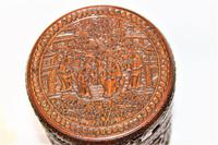 Finely Carved Chinese Bamboo Circular Lidded Pot (5 of 6)