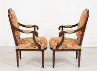Pair of French Oak Open Armchairs (6 of 9)