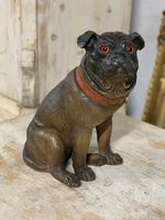 19th Century Painted Terracotta Pug Dog (3 of 3)