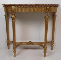 19th Century Gilt Marble Topped Console Table (3 of 4)
