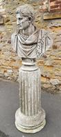 Large Composite Stone Statue On Column - Julius Cesar (2 of 11)