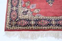 """Vintage / Retro Wool Rug ~ 8' x 4'6"""" Eastern (4 of 8)"""
