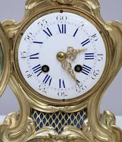 French Rococo Style Bronze Gilt Mantel Clock (3 of 9)