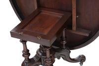 Victorian Burr Walnut Marquetry Oval Loo Breakfast Table Tilt Top (7 of 11)
