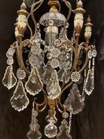 One Light Italian Antique Cage Chandelier (5 of 13)