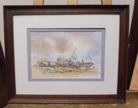 Watercolour & Ink Hastings Boats Listed Artist Valerie Sadler (3 of 10)