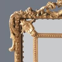 Large  French Gilt Overmantle Mirror (5 of 11)