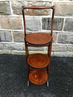 Antique Edwardian Inlaid Mahogany Stand (10 of 11)