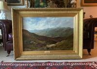 (1of2) Huge Exceptional 19thc Snowdonia Welsh Mountain Landscape Oil Painting (14 of 15)