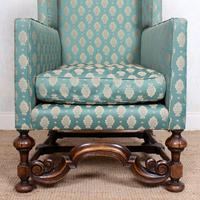 Lounge Chair Armchair Walnut Wingback Edwardian (10 of 12)