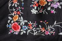 Early 19th Century Chinese Embroidered Silk Piano Shawl (11 of 15)