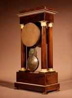 A Very Stylish Charles X Rosewood/Palisandre Inlaid With Lemon Wood and Ormolu Portico Clock Circa: 1830 (5 of 15)