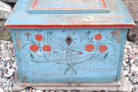 Swedish 'folk art' original blue paint box from hälsingland region, 1847. (17 of 26)