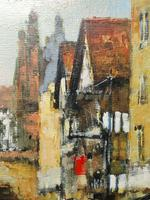 English Atmospheric Oil Painting Historic Chester Eastgate Street Clock After Ben Maile (7 of 12)