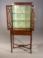 Elegant Edwardian Period Display Cabinet / Bookcase (3 of 5)