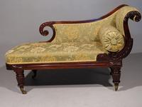 Attractive Mid 19th Century Rosewood Chaise Lounge by Gillows of Lancaster