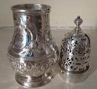Antique George 1 Britannia Silver Caster - 1715 (3 of 6)