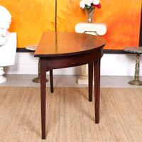 Georgian Demi Lune Console Table Mahogany Carved Hall Table (4 of 5)