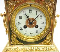 Fine French Ormolu Cubed Mantel Clock Classic 8 Day Striking Mantle Clock (5 of 10)