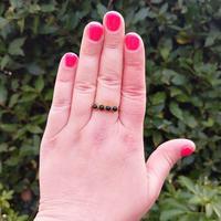 Vintage 18ct Gold Four Garnet Crystal Ring (6 of 9)