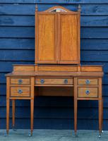 Exceptional Quality Edwardian Satinwood Dressing Table with Mirrors c.1901 (8 of 14)